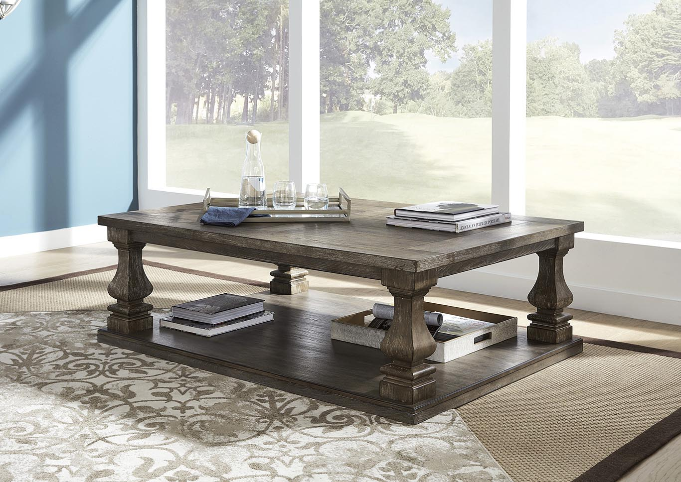 Johnelle Gray Cocktail Table,Signature Design By Ashley