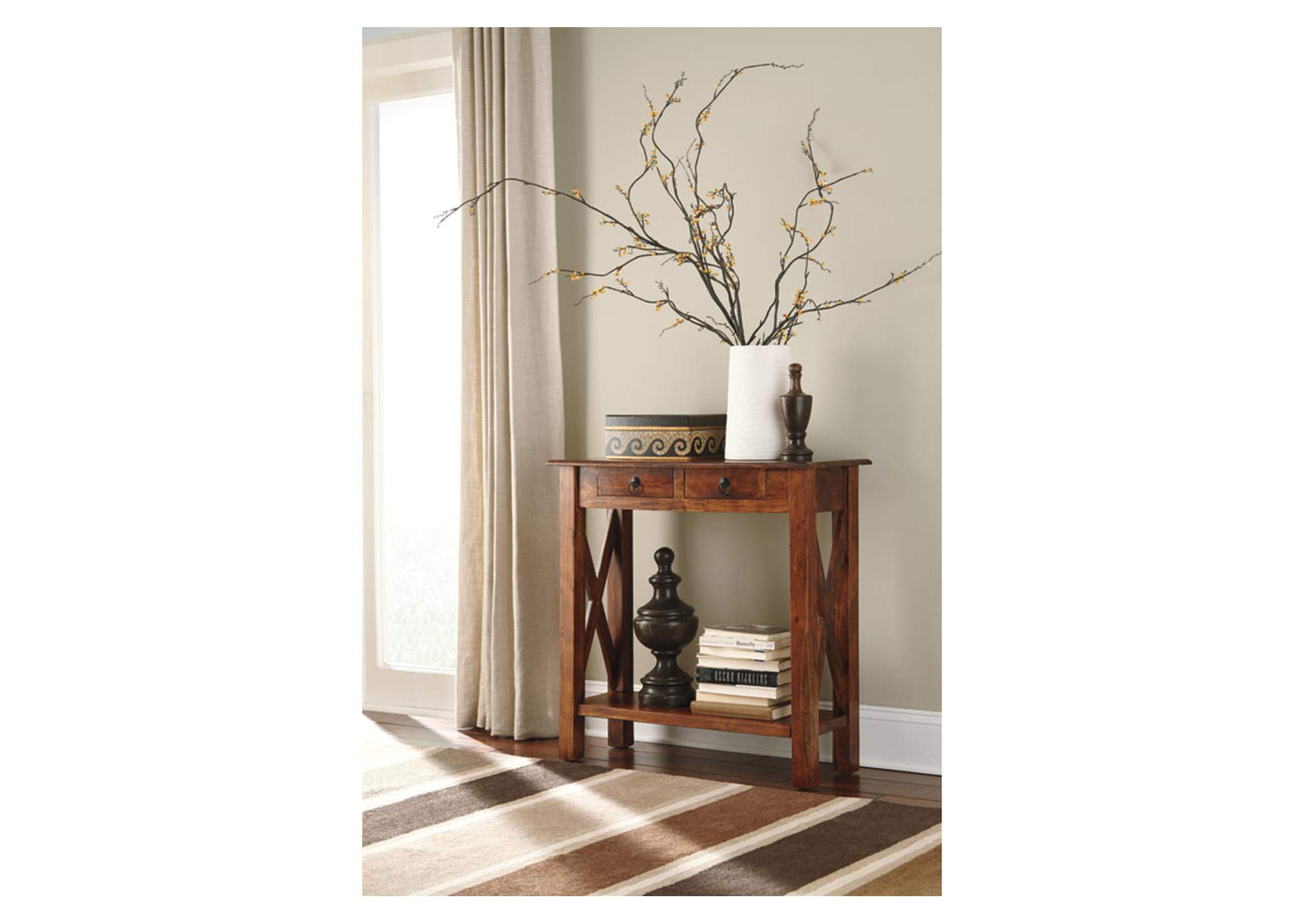 Abbonto Brown Sofa Table,Direct To Consumer Express