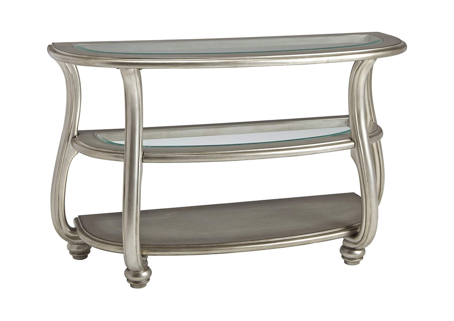 Coralayne Silver Finish Sofa Table,Direct To Consumer Express