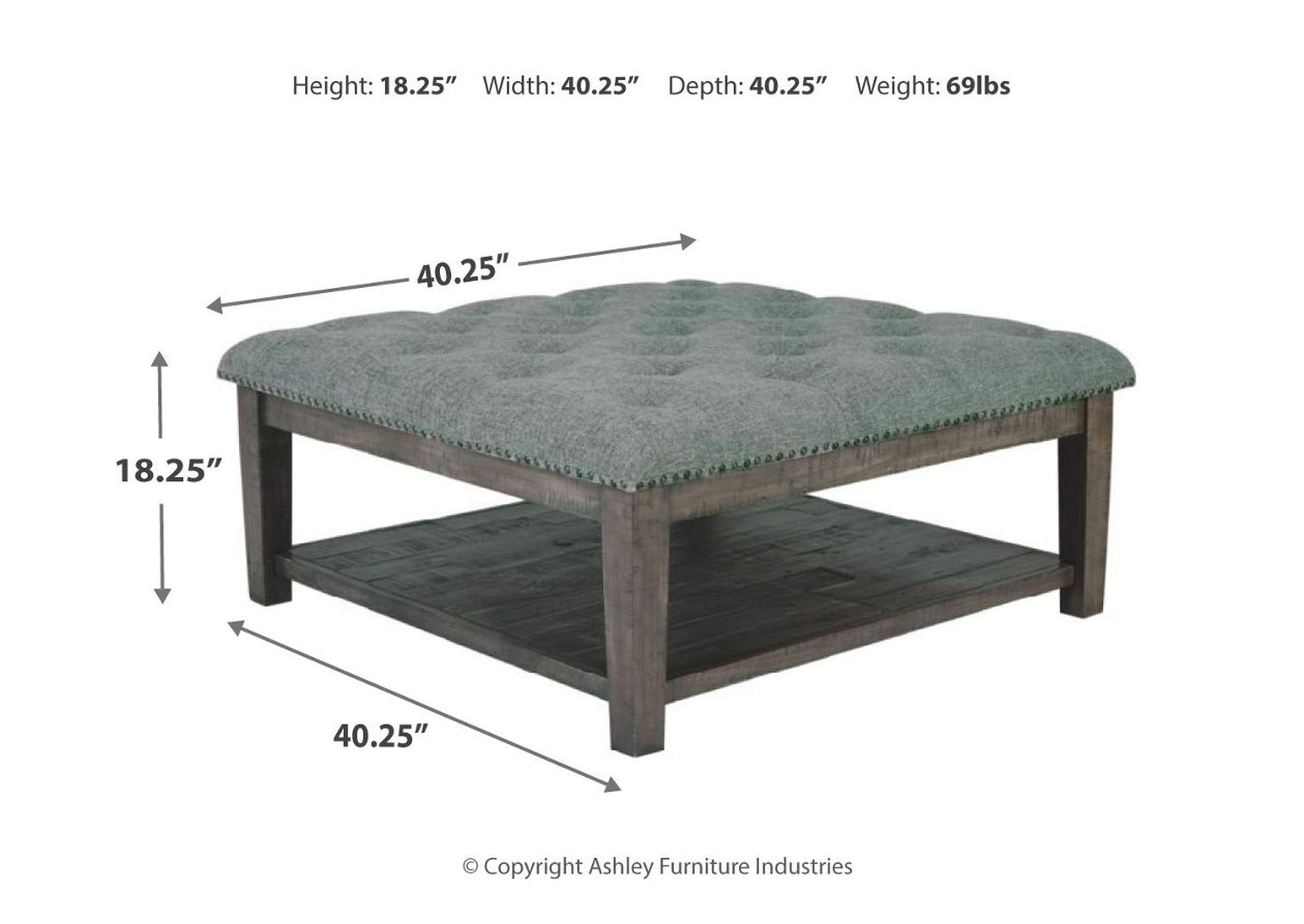 Borlofield Linen Ottoman Cocktail Table,Signature Design By Ashley