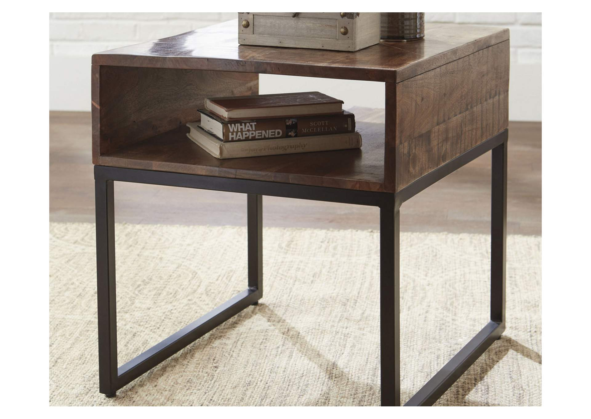 Hirvanton Warm Brown Rectangular End Table,Signature Design By Ashley