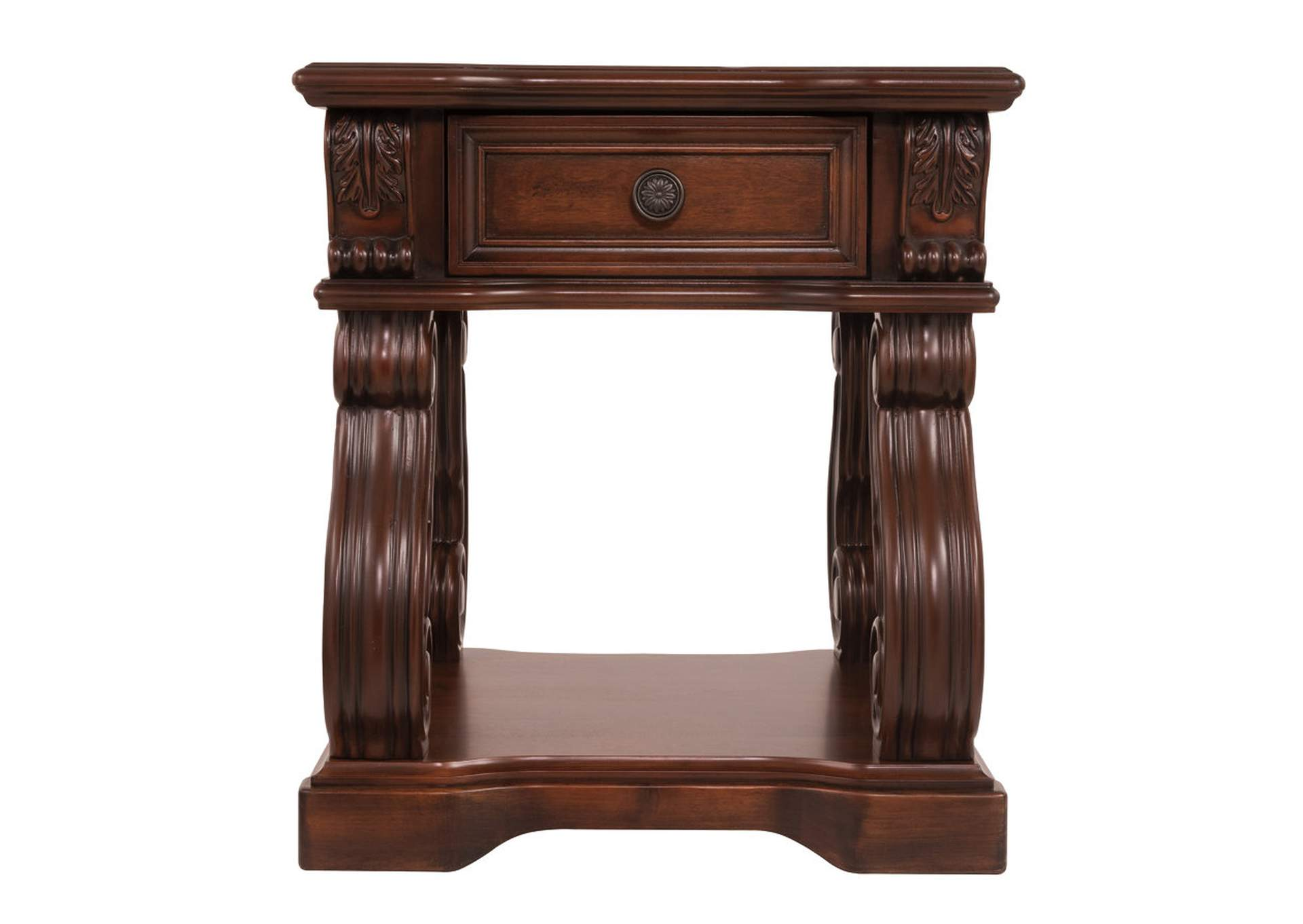 Alymere Brown End Table,Direct To Consumer Express