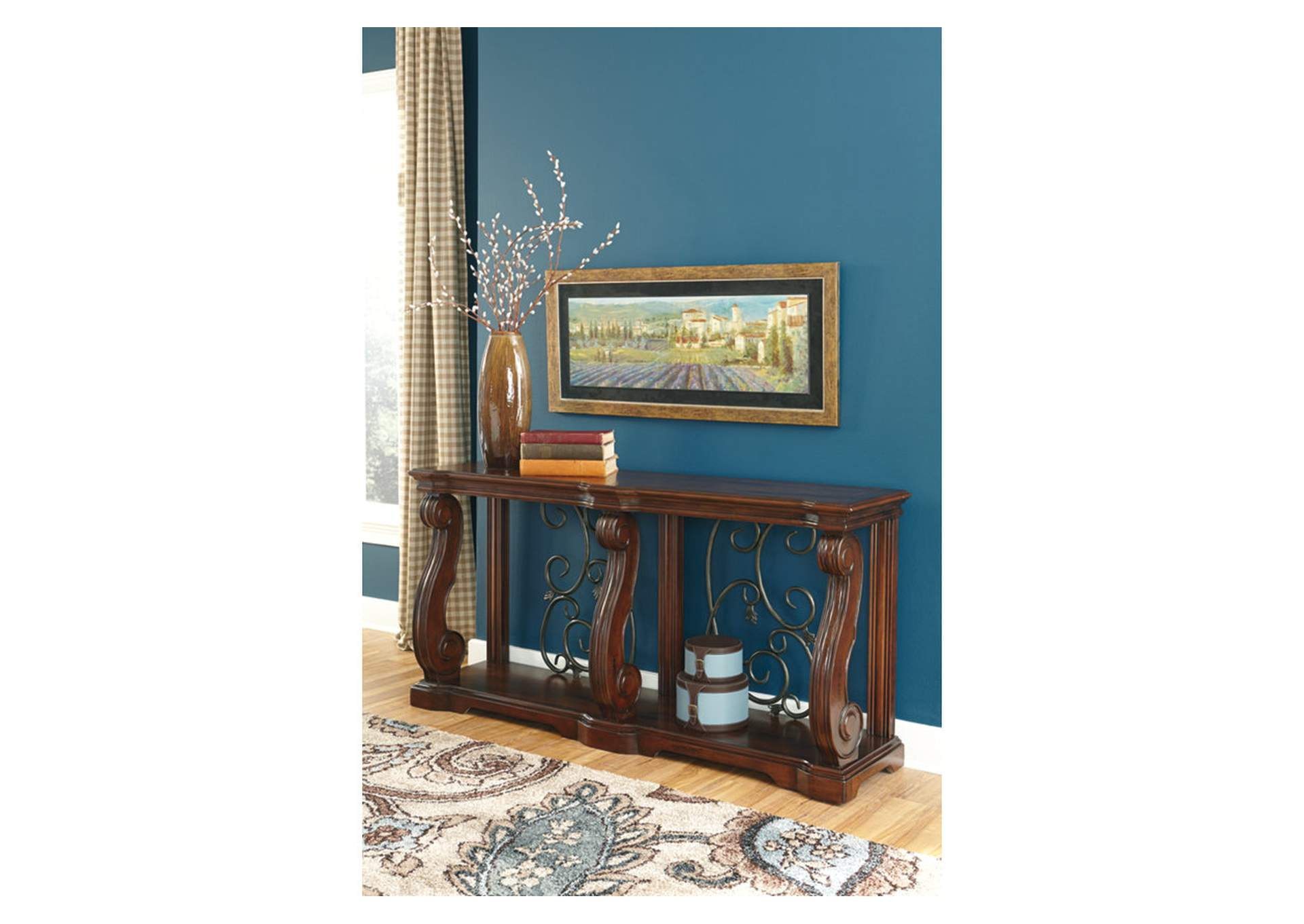 Alymere Brown Sofa Table,Direct To Consumer Express