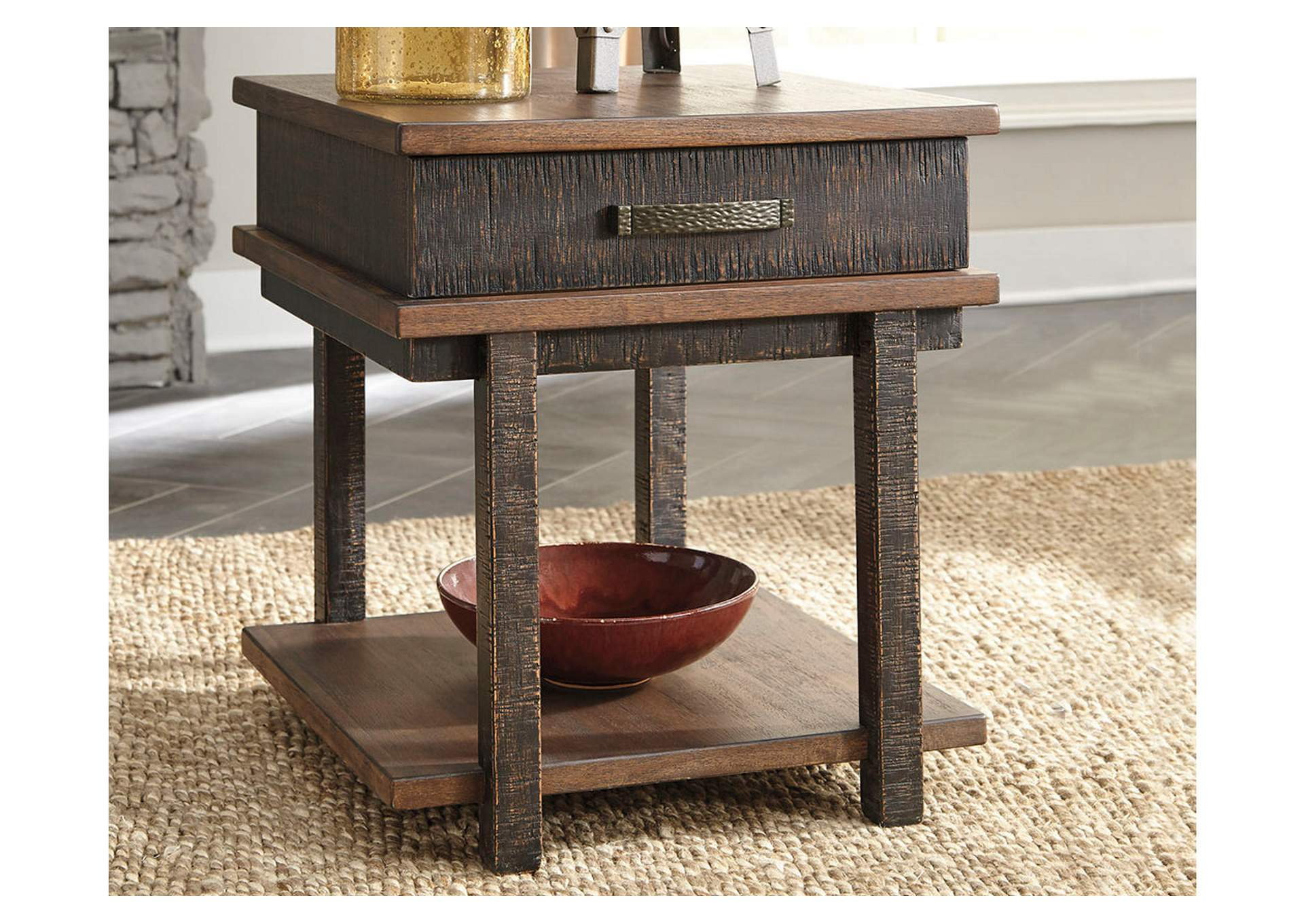 Stanah Two-tone Rectangular End Table,Direct To Consumer Express