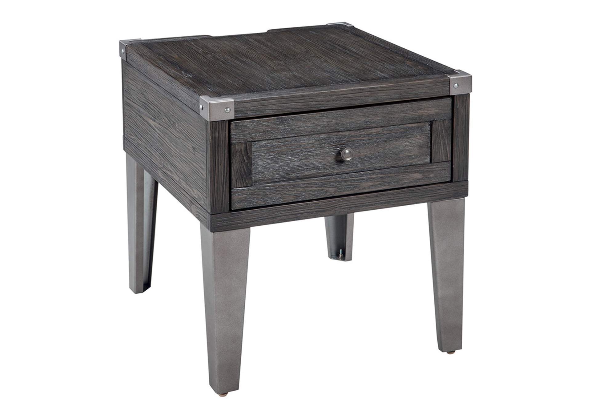 Todoe Dark Gray Rectangular End Table,Direct To Consumer Express