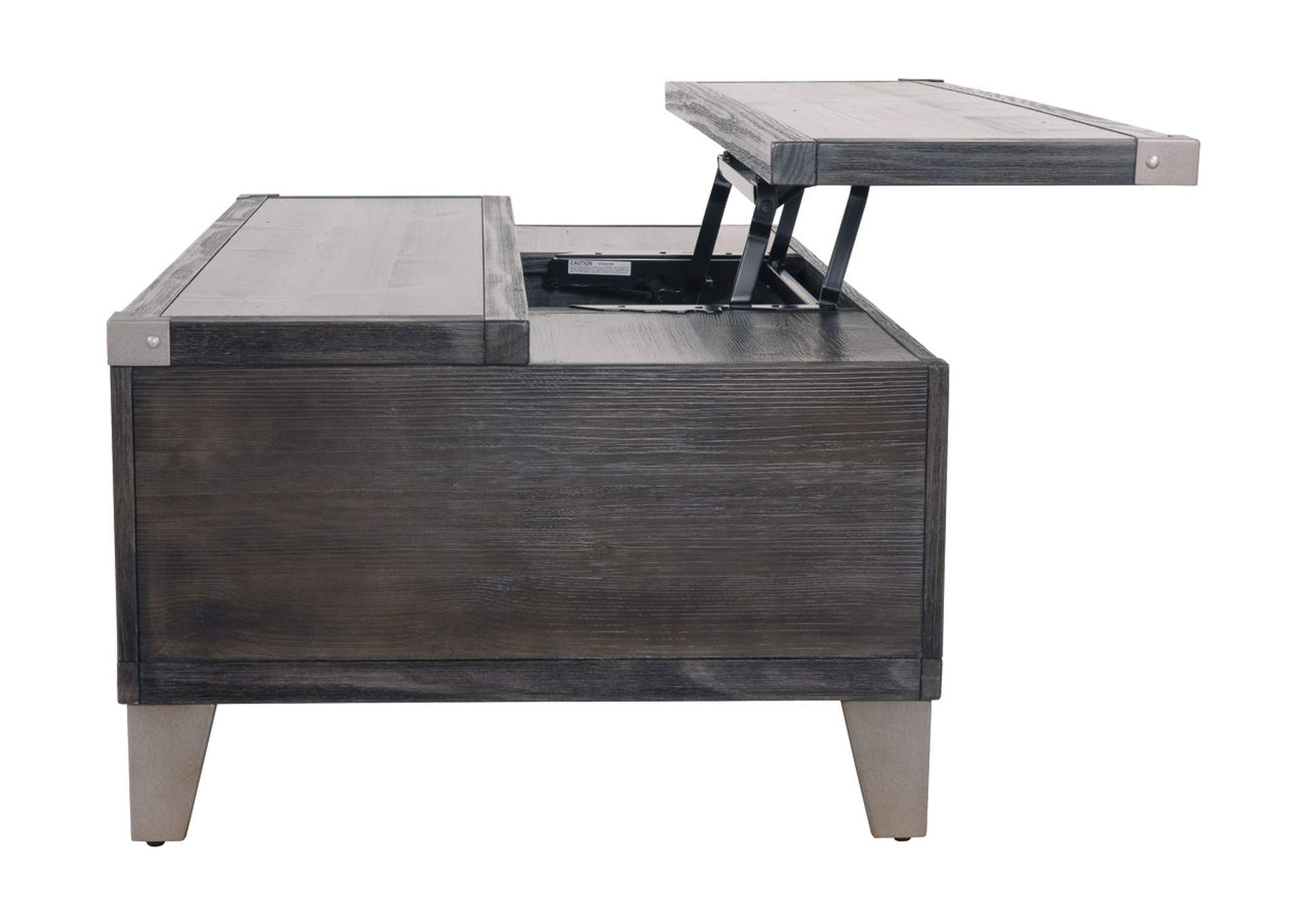 Todoe Dark Gray Lift Top Cocktail Table,Direct To Consumer Express