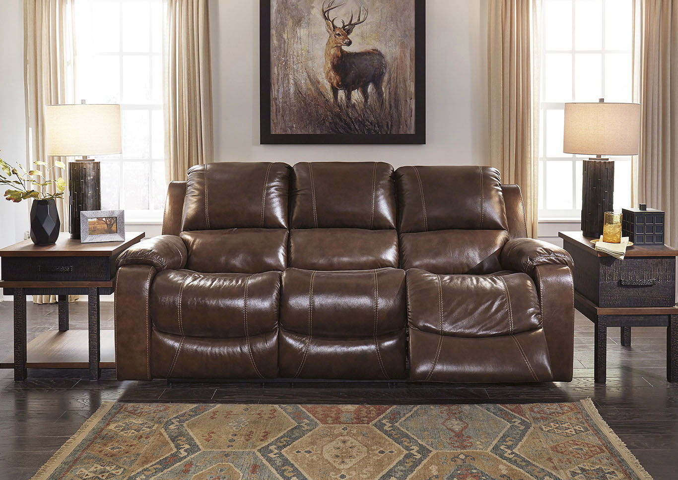 Rackingburg Mahogany Reclining Sofa,Signature Design By Ashley