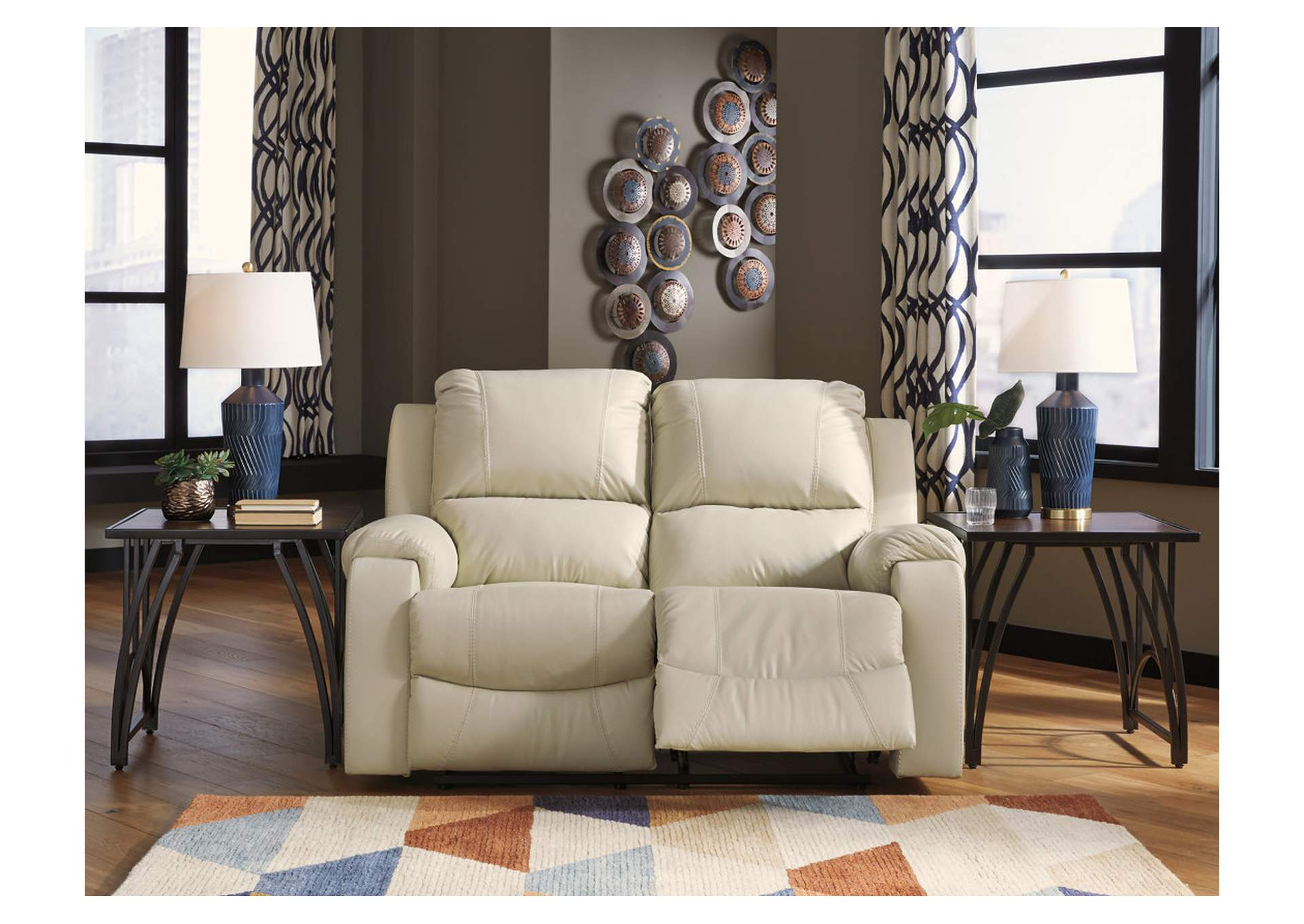 Rackingburg Cream Reclining Loveseat,Signature Design By Ashley