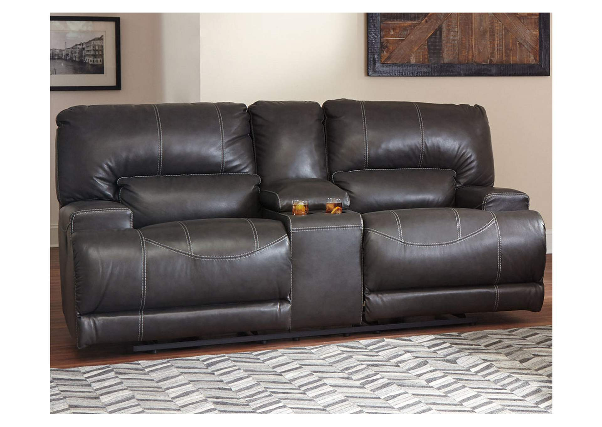McCaskill Gray 2 Seat Reclining Power Sofa,Signature Design By Ashley