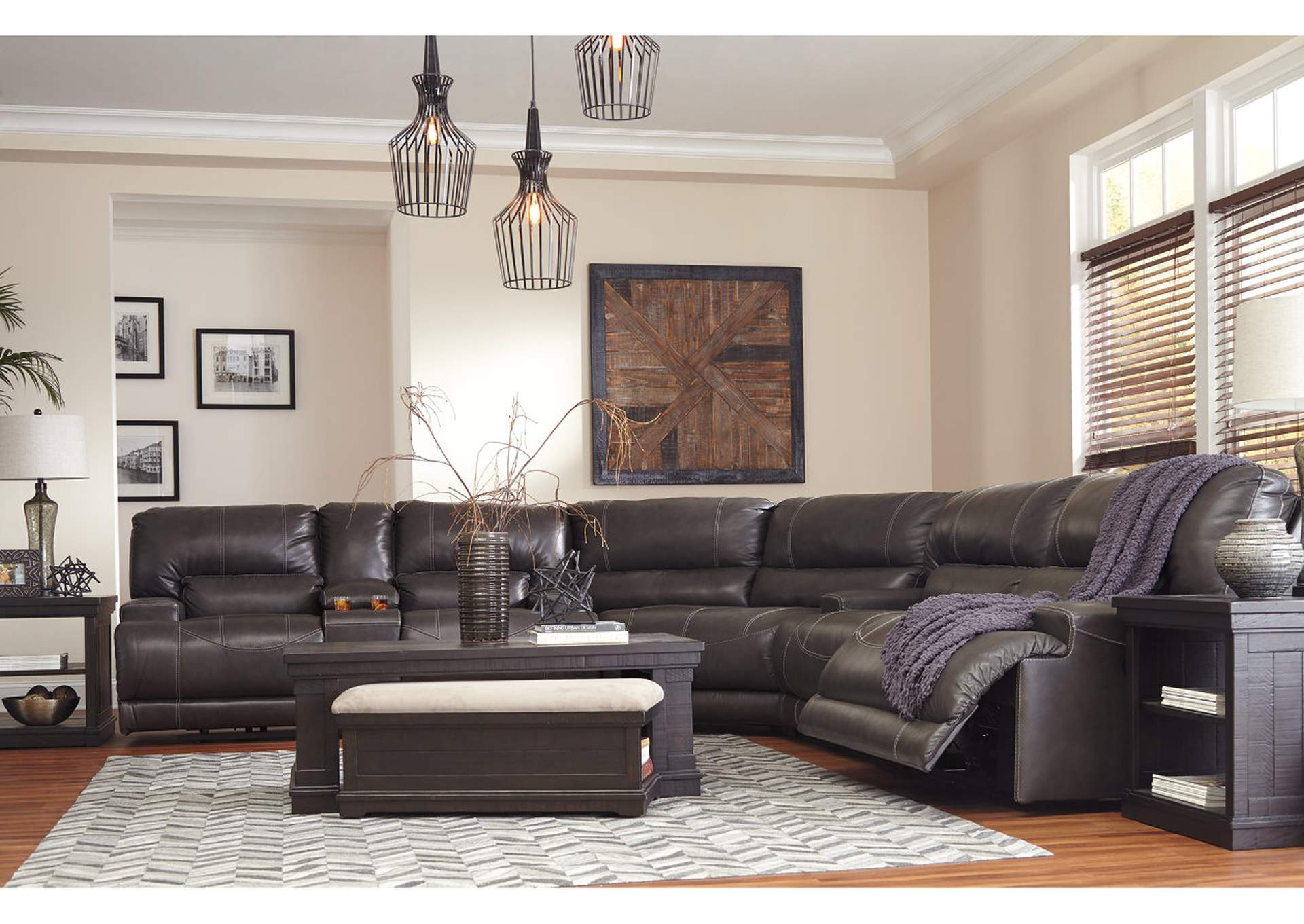 McCaskill Gray 2 Seat Reclining Sofa,Signature Design By Ashley