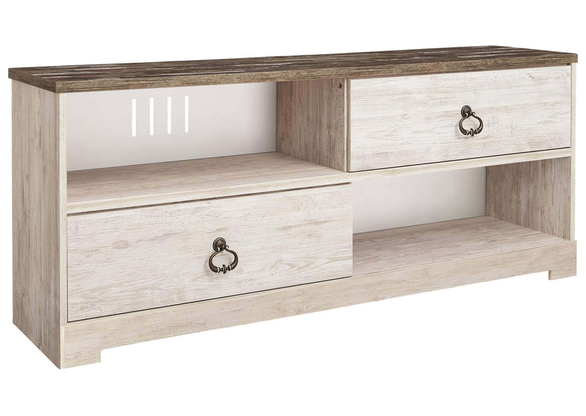 "Willowton Whitewash 60"" TV Stand,Signature Design By Ashley"