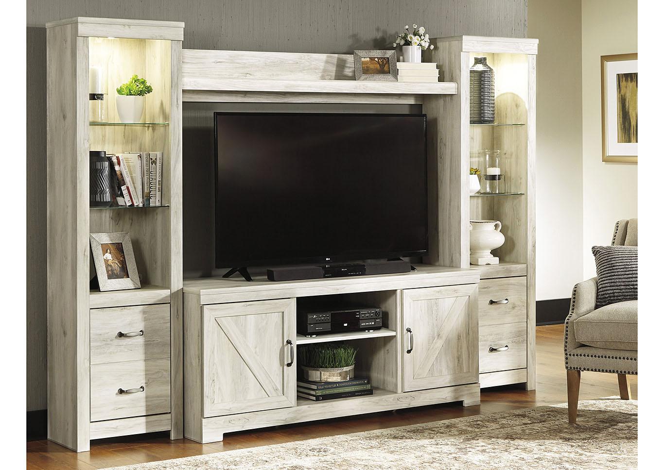 Bellaby Whitewash Entertainment Center Best Buy Furniture and Mattress
