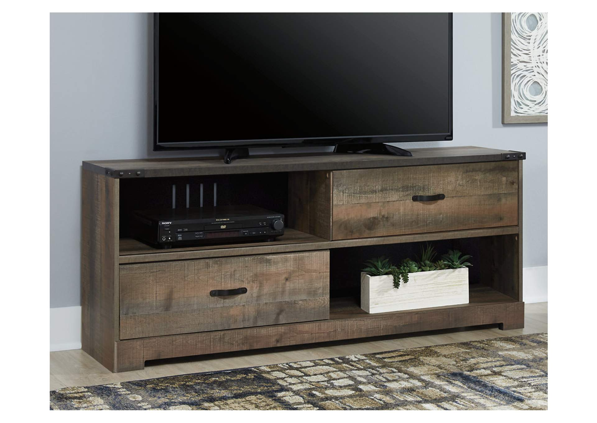 "Trinell Brown 59"" TV Stand,Signature Design By Ashley"