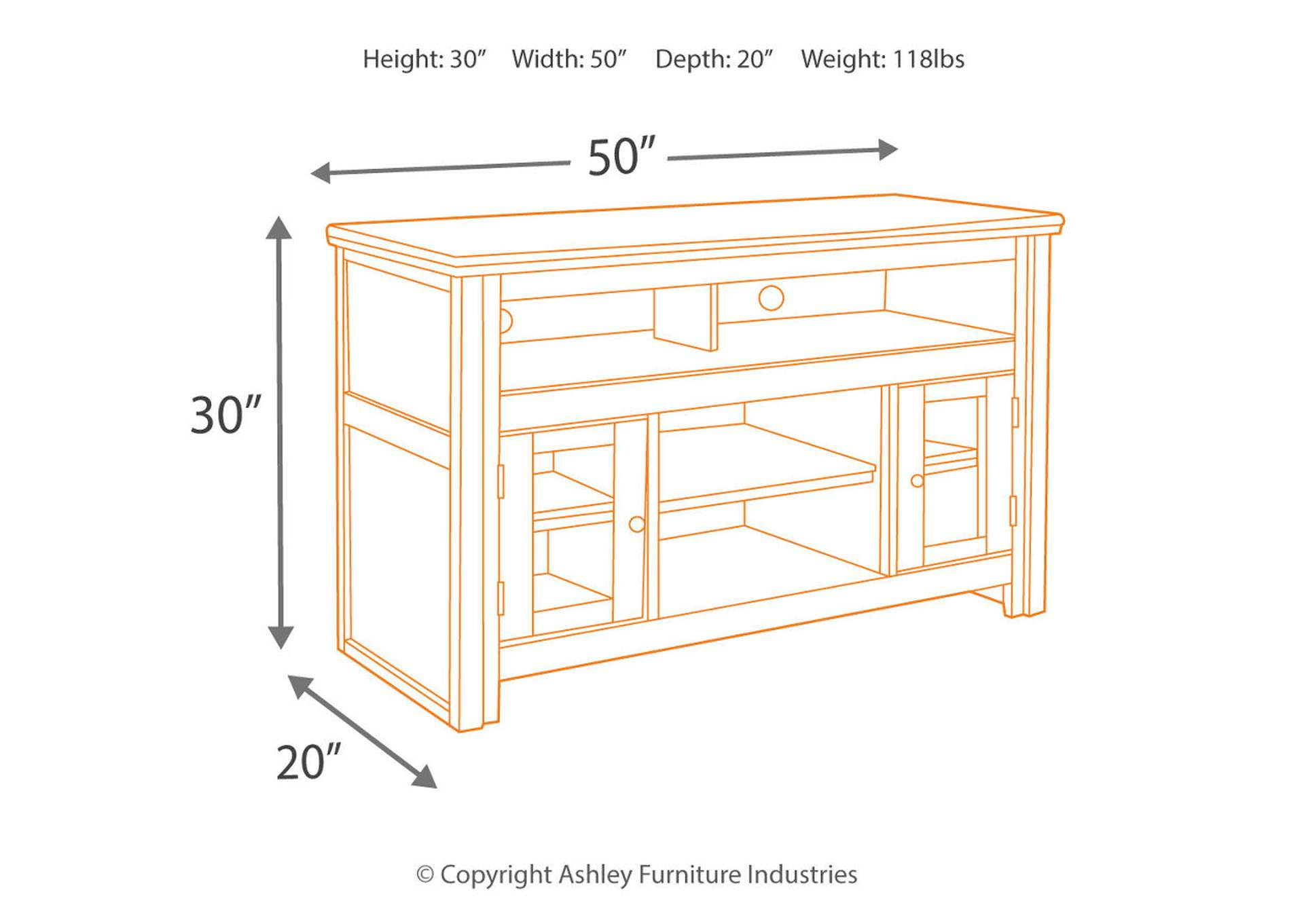 "Harpan 50"" TV Stand,Direct To Consumer Express"