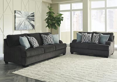 Image for Charenton Charcoal Sofa & Loveseat