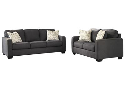 Image for Alenya Charcoal Sofa & Loveseat