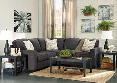 Alenya Charcoal LAF Sectional,Signature Design By Ashley