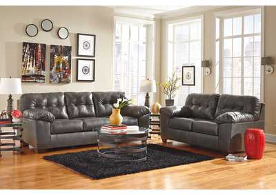 Image for Alliston DuraBlend Gray Sofa & Loveseat