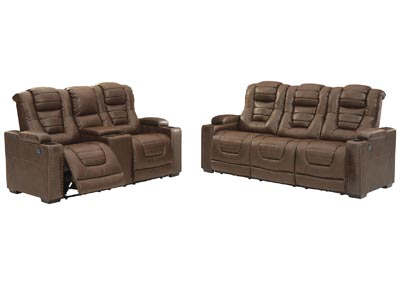 Owner's Box Power Reclining Sofa and Loveseat