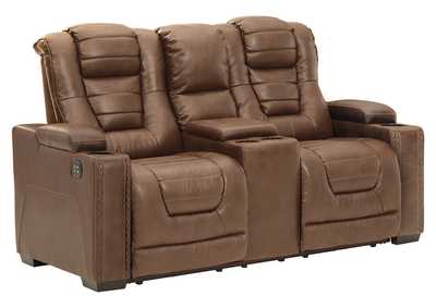 Image for Owner's Box Power Reclining Loveseat with Console
