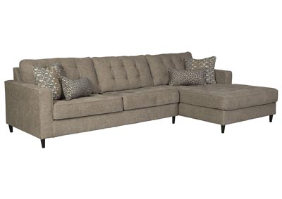 Image for Flintshire Brown Right-Arm Facing Chaise Sectional