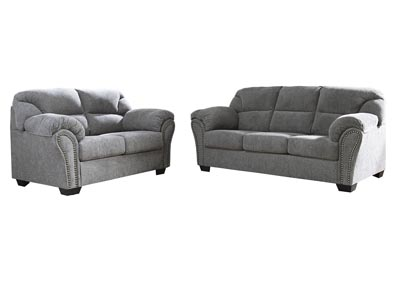Image for Allmaxx Pewter Sofa and Loveseat