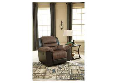 Earhart Chestnut Rocker Recliner,Signature Design By Ashley