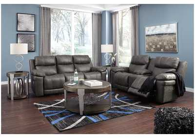 Image for Erlangen Midnight Power Reclining Sofa & Loveseat w/Adjustable Headrest