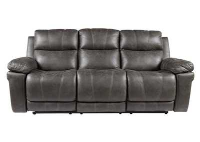 Erlangen Midnight Power Reclining Sofa w/Adjustable Headrest