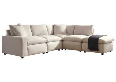 Image for Savesto Ivory LAF Corner Chair Sectional
