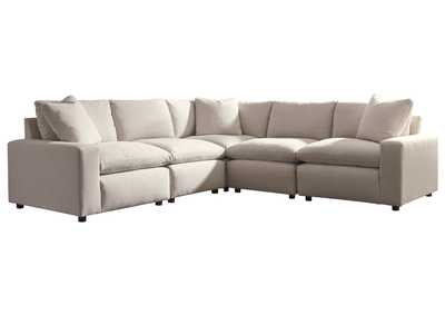 Savesto Ivory 5 Piece Sectional