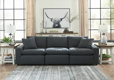 Savesto Charcoal 3 Piece Linear Sectional