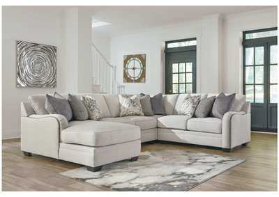 Dellara Chalk 4 Piece LAF Chaise Sectional