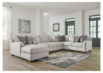 Dellara Chalk 5 Piece LAF Chaise Sectional