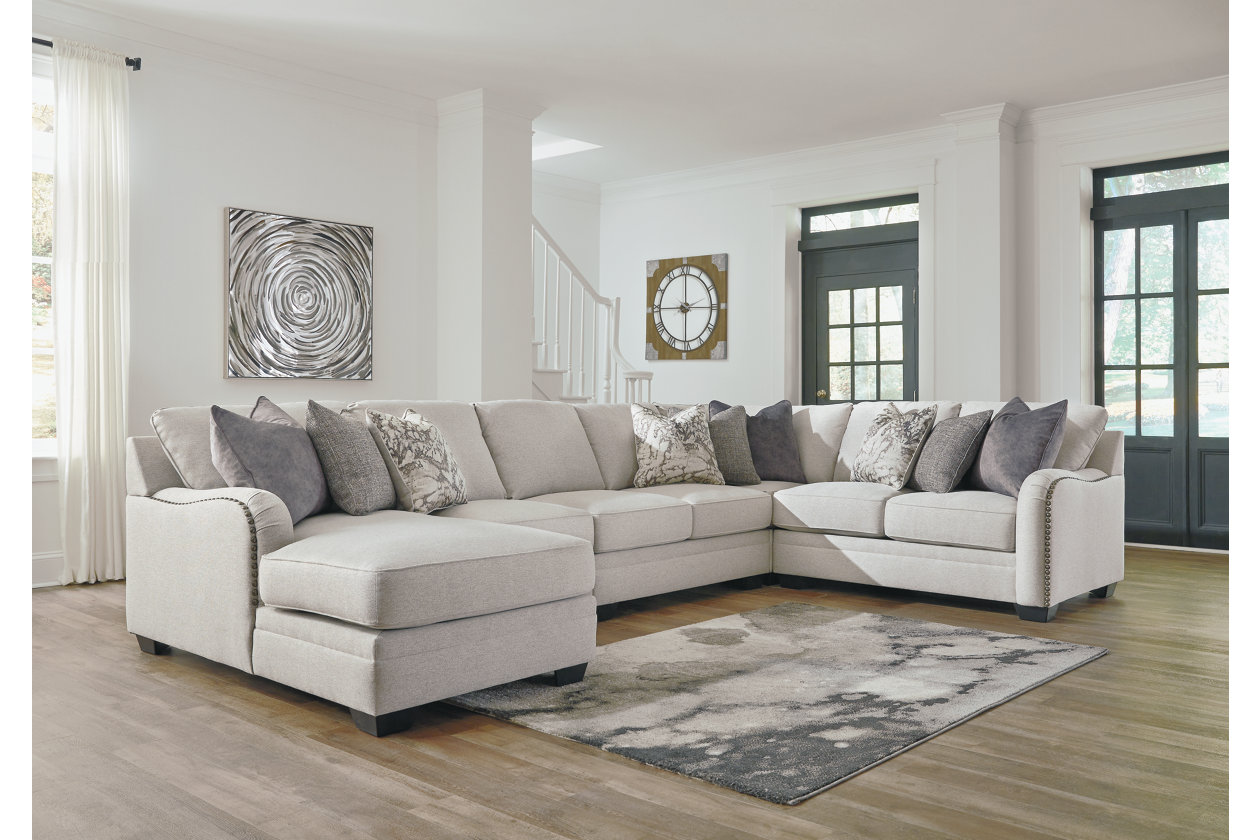 Dellara Chalk 5 Piece LAF Chaise Sectional,Benchcraft