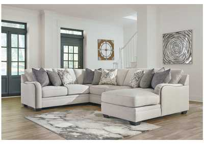 Dellara Chalk 4 Piece RAF Chaise Sectional