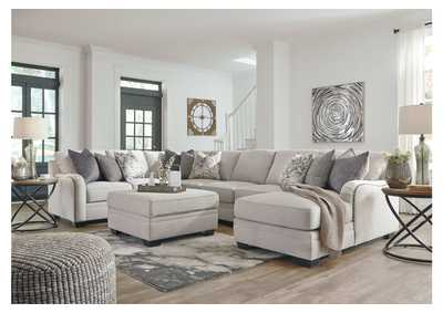 Dellara Chalk 5 Piece RAF Chaise Sectional,Benchcraft