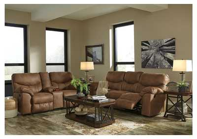 Image for Boxberg Bark Reclining Sofa & Double Reclining Loveseat w/Console