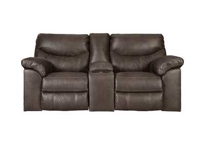 Boxberg Teak Double Reclining Power Loveseat w/Console,Signature Design By Ashley