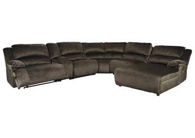Clonmel 6 Piece Power Reclining Sectional with Chaise