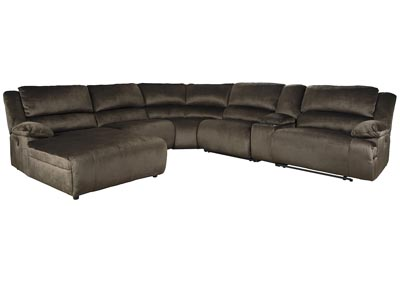 Clonmel 6 Piece Power Reclining Sectional with Chaise,Signature Design By Ashley