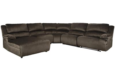 Clonmel 5 Piece Reclining Sectional with Chaise,Signature Design By Ashley