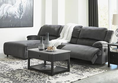 Clonmel 3 Piece Reclining Sectional with Chaise