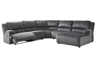 Clonmel 5 Piece Reclining Sectional with Chaise