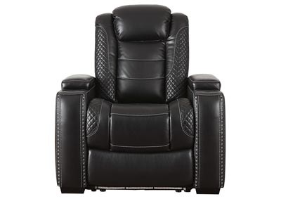 Party Time Midnight Power Recliner w/Adjustable Headrest