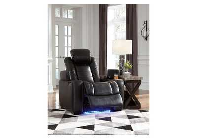 Party Time Midnight Power Recliner w/Adjustable Headrest,Signature Design By Ashley