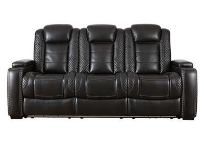 Image for Party Time Midnight Power Reclining Sofa w/Adjustable Headrest