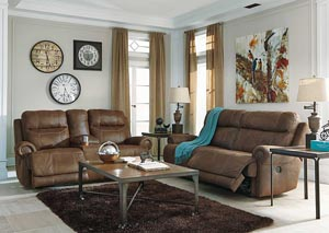 Image for Austere Brown 2 Seat Reclining Sofa & Loveseat