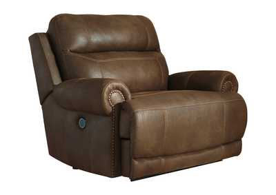 Image for Austere Brown Zero Wall Power Wide Recliner