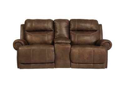 Image for Austere Brown Double Power Reclining Loveseat w/ Console